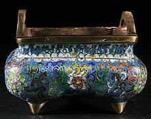 Chinese Old Cloisonne Censer