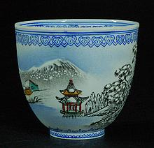 Chinese Eggshell Porcelain Cup