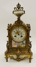 Antique B&G Mantel Clock w/ Porcelain Face