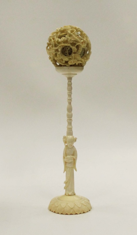 Highly Carved Chinese Bone Puzzle Ball