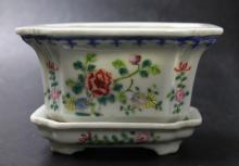Chinese Famille Rose Planter with Base