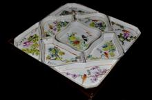 Chinese Porcelain Sweetmeats Set with Case
