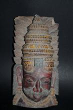 Hand Carved Wooden Temple Mask
