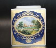 Royal Cauldon Porcelain Tea Caddy