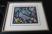 Chinese Framed Embroidery