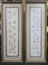 Pair of Framed Chinese Embroideries
