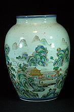 Old Chinese Famille Verte Jar