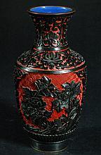 Carved Cinnabar Vase