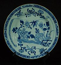Blue and White Plate