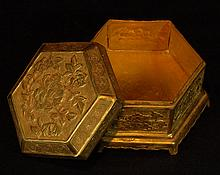 Golden Lidded Dresser Box