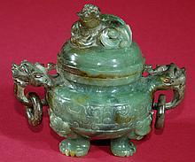 Highly Carved Jade Censer
