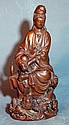 Chinese Highly Detailed Huang Yang Carved Guanyin