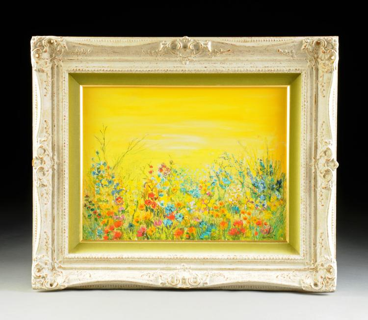 """IDA ITKIN (American 20th Century) A PAINTING, """"Wild Flowers"""