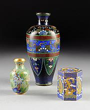THREE CHINESE CLOISONNÉ PIECES, 20TH CENTURY,