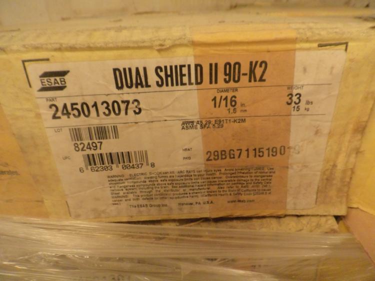 ESAB Dual Shield II 90-K2 33 pound rolls of 1/16
