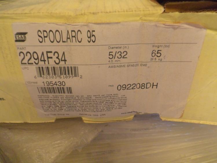 ESAB Spoolarc 95 65 pound rolls of 5/32