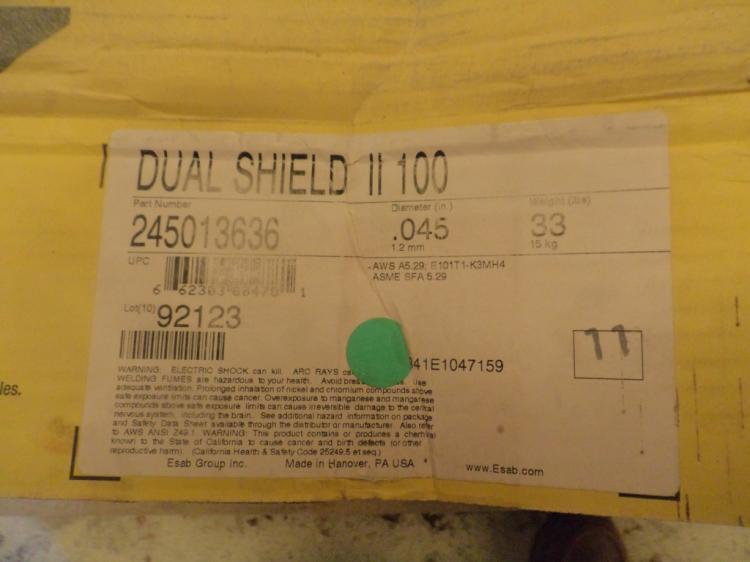 ESAB Dual Shield II 90-K2 33 pound rolls of .045