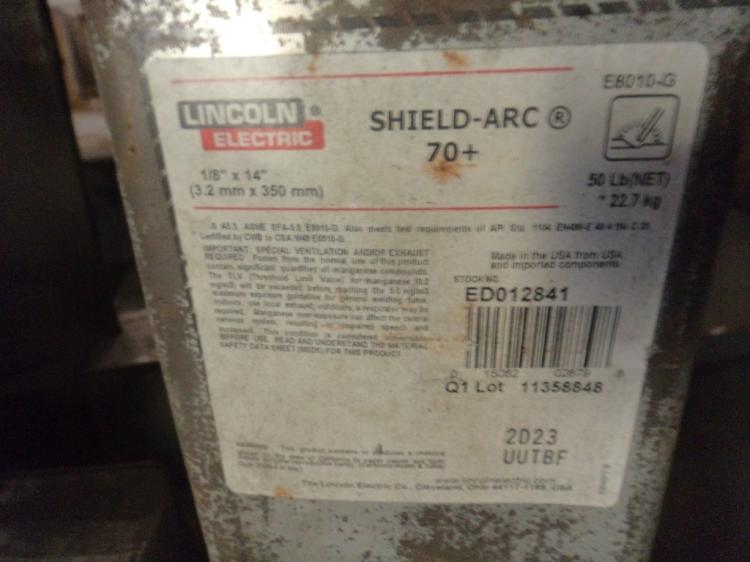 Lincoln shield arc 70+, 50 pound cans of 1/8