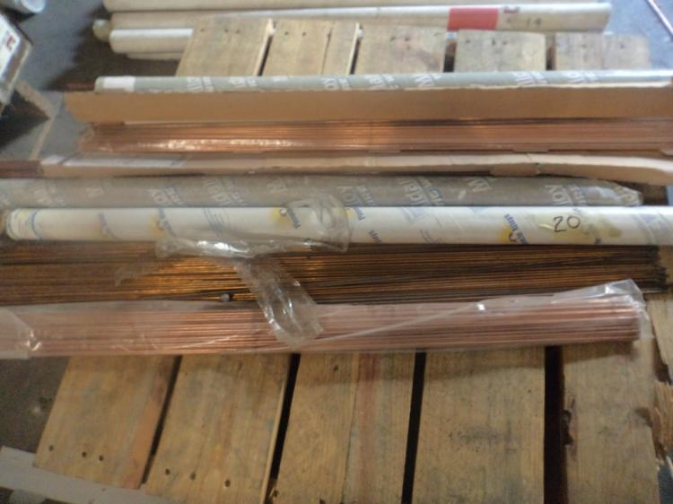 Misc pallet of tig rods