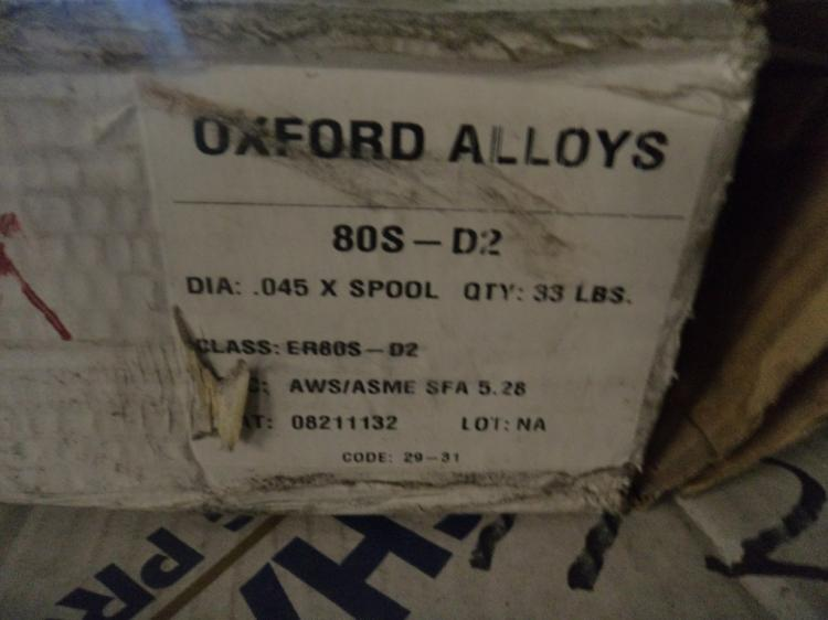 Oxford 80S-D2 33 pound roll of .045 mig wire