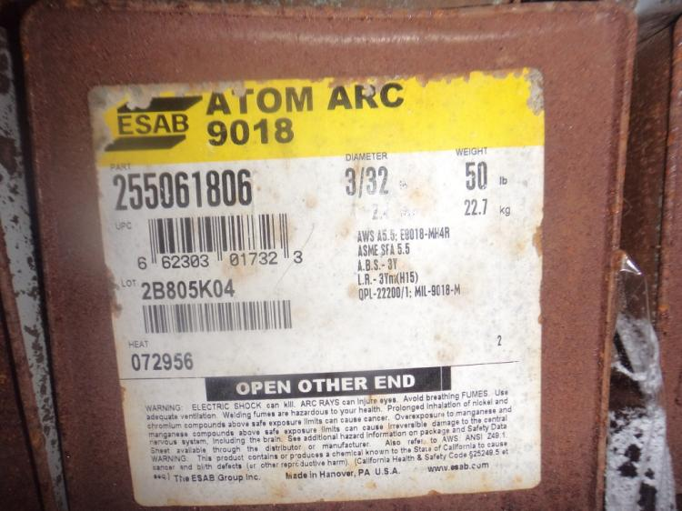 ESAB 3/16 stick electrode 50 pound cans Qty 2
