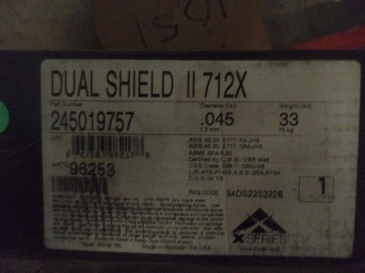 Lot of 2 .045, 33 pound rolls of Shielded Flux
