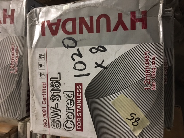 SW 316L cored stainless steel MIG wire .045 33
