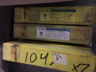 Lot of 7 tubes of KISWEL KST-308L S/STEEL