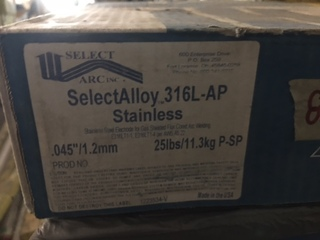 316L-AP .045 stainless steel MIG wire 25 pound