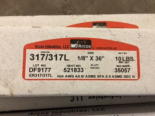 10LB boxes of 317/317L 1/8