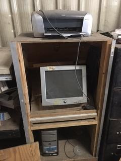 Computer, screen, printer