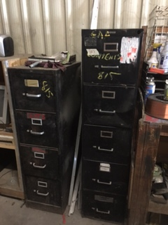 Lot of 2 file cabinets with contents