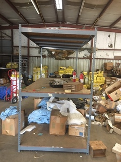 Warehouse shelf without contents
