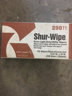 Lot of 15 boxes of sure wipe utility wipes