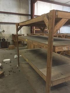 Wood shelving units