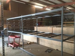 8' x 4' x 7' metal shelf
