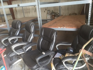 Lot of 5 office chairs