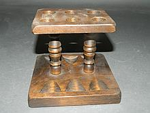 Traditional Wooden 6 Pipe Stand