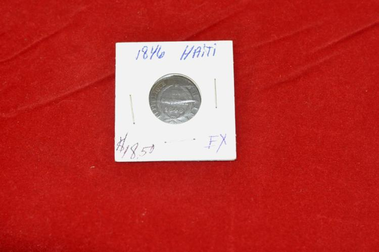 1846   1 Centime from Haiti EX Books for $18.50