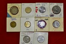 Foreign Coins from 10 different Countries Lot #1