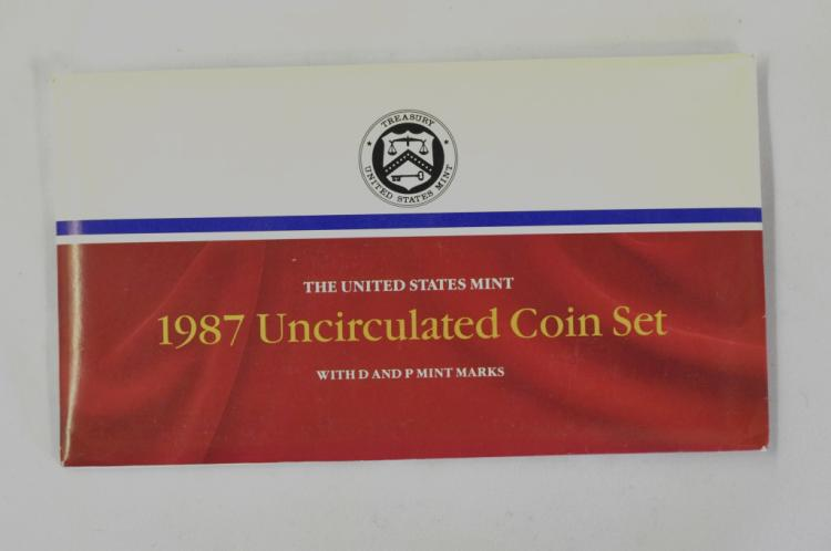 1987   P&D Uncirculated Set