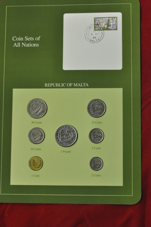 Coins of all Nations Set from Republic of Malta
