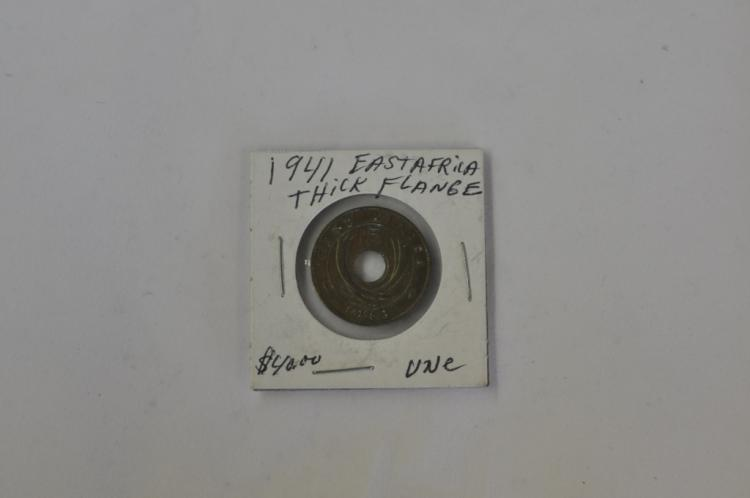 1941  5 Cents Thick Flange from East Africa UNC