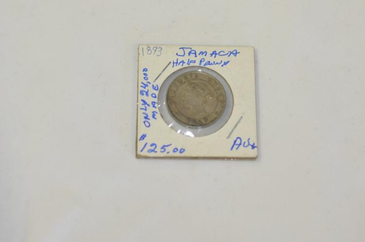 1893 Half Penny from Jamaica AU Books for
