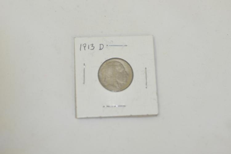 1913 D    Buffalo Nickel Rare Key Date