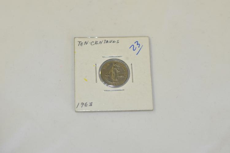 1963   10 Centavos
