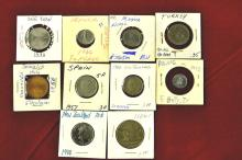 Foreign Coins from 10 different Countries Lot #3