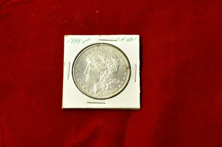 1898  Morgan Silver Dollar Choice BU