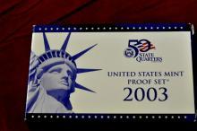 2003  U.S. Proof Set 10 Coins with COA