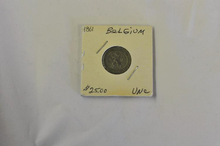1861  5 Centimes from Belgium UNC Books for